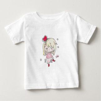 lValentine's Day print of love sick chibi girl Baby T-Shirt