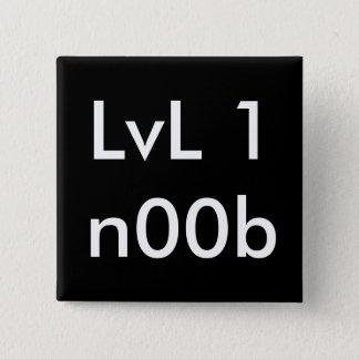 LvL 1n00b 2 Inch Square Button