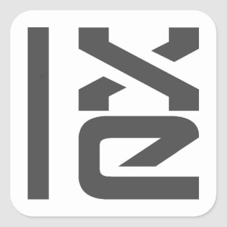 LXLE Linux Badges Square Sticker