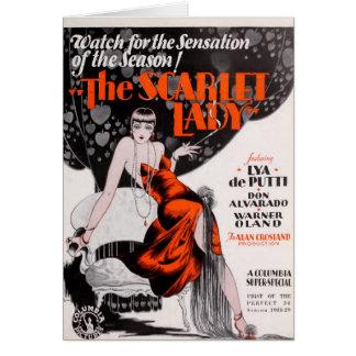 Lya De Putti silent movie exhibitor ad Card