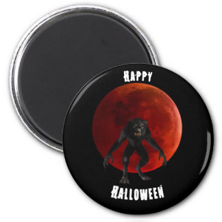 Lycan Werewolf Blood Red Moon Halloween Black Magnet