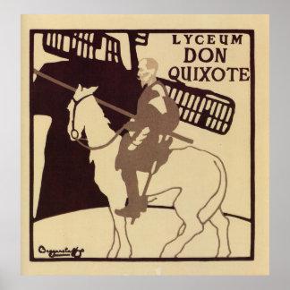 Lyceum Theatre Don Quixote vintage ad Print