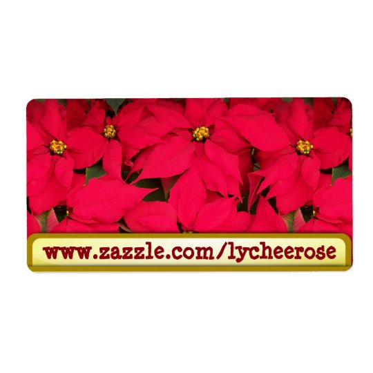 Lycheerose poinsettia label