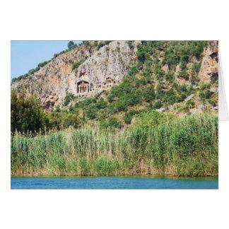 Lycian Rock Tombs, Dalyan,Turkey Card