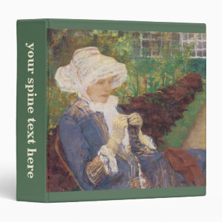 Lydia Crocheting in Garden at Marly, Mary Cassatt 3 Ring Binders