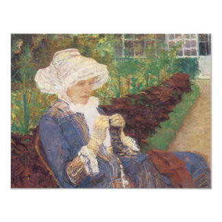 Lydia Crocheting in Garden at Marly, Mary Cassatt Card