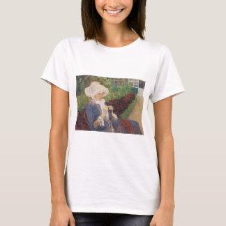 Lydia Crocheting in Garden at Marly, Mary Cassatt T-Shirt