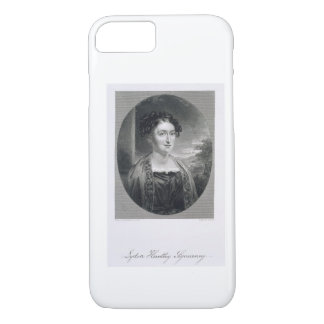 Lydia Huntley Sigourney (1791-1865), engraved by B iPhone 7 Case