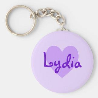 Lydia in Purple Keychain