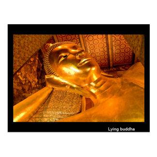 Lying Buddha Thailand Postcard
