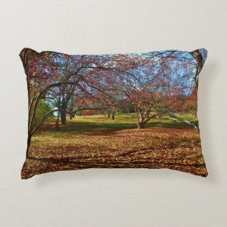 Lyle Littlefield Gardens Autumn Landscape 2015 Accent Pillow