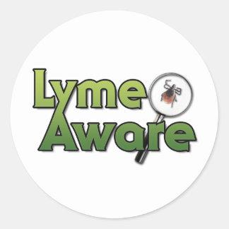 Lyme Aware Gear Round Sticker