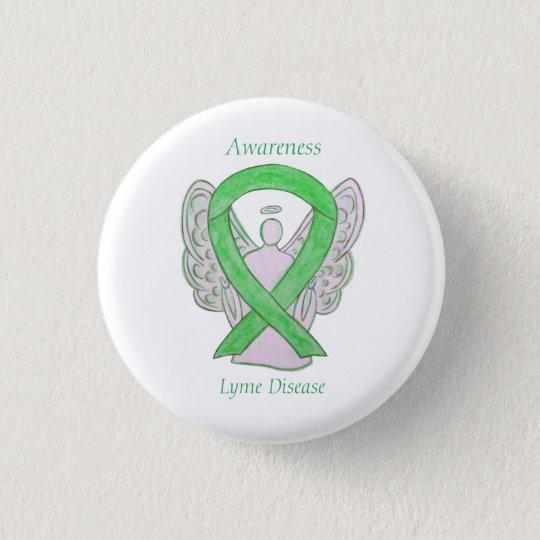 Lyme Disease Awareness Angel Ribbon Custom Art Pin