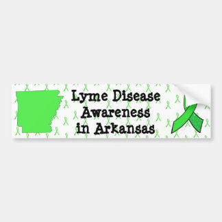 Lyme Disease Awareness in Arkansas Bumper Sticker