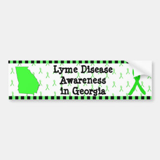 Lyme Disease Awareness in Georgia Bumper Sticker