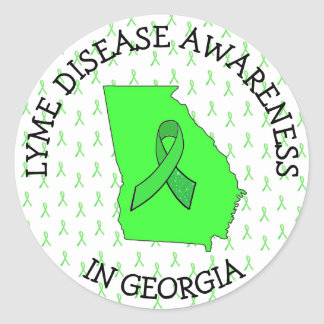 Lyme Disease Awareness in Georgia Stickers