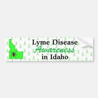 Lyme Disease Awareness in Idaho Bumper Sticker