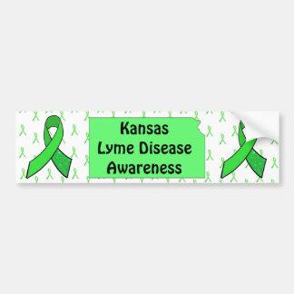 Lyme Disease Awareness IN Kansas Bumper Sticker