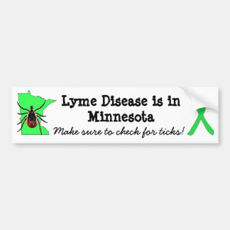 Lyme Disease Awareness in Minnesota Bumper Sticker
