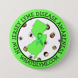 Lyme Disease Awareness in New Jersey Ribbon Button
