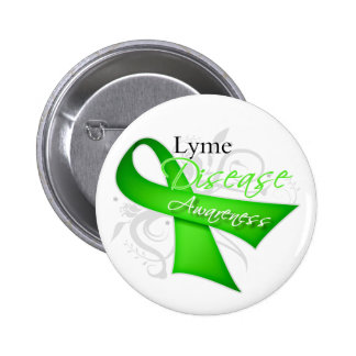 Lyme Disease Awareness Ribbon 2 Inch Round Button