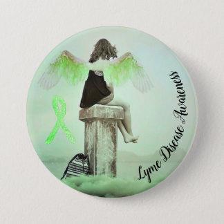 Lyme Disease Awareness Ribbon & Angel Button