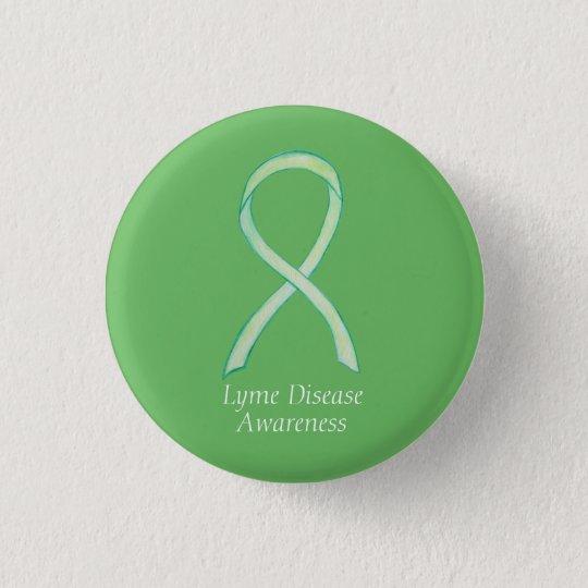 Lyme Disease Awareness Ribbon Custom Art Pin