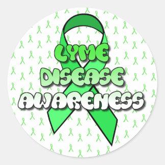 Lyme Disease Awareness Ribbon Stickers