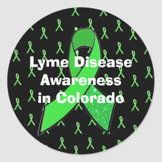 Lyme Disease Awareness Ribbons Sticker