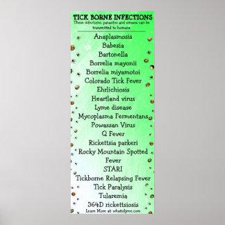 Lyme Disease Awareness Tick Poster