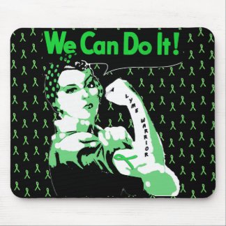 """Lyme Disease awareness """"We Can Do It"""" Mouse Pad"""
