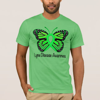 Lyme Disease Butterfly Awareness Ribbon T-Shirt