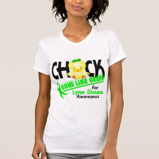 Lyme Disease Chick Gone Lime Green 2 T-Shirt