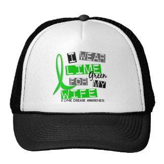Lyme Disease I Wear Lime Green For My Wife 37 Trucker Hat