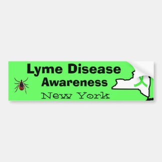 Lyme Disease in New York Bumper Sticker