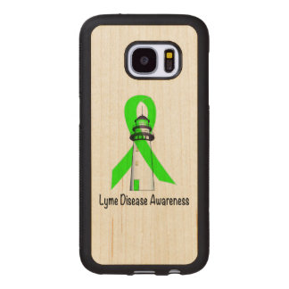 Lyme Disease Lighthouse of Hope Wood Samsung Galaxy S7 Case