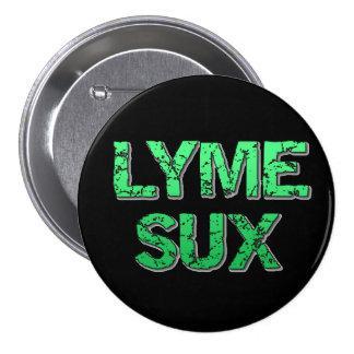 Lyme Disease Sucks Awareness Ribbons Button
