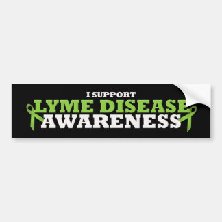 Lyme Disease Support Ribbon Bumper Sticker