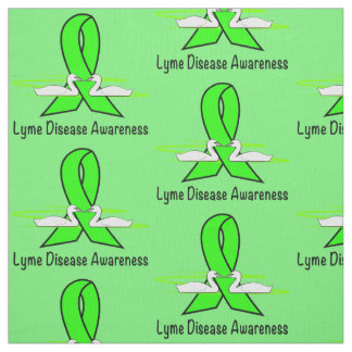 Lyme Disease Swans of Hope Fabric