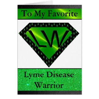 Lyme Disease Warrior Superhero Support Card