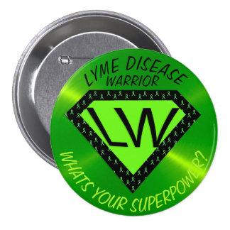 Lyme Disease Warrior Superpower Button