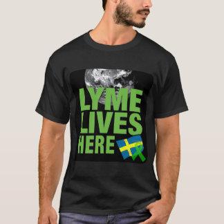 Lyme Lives Here in Sweden Awareness Shirt
