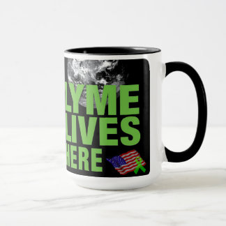 Lyme Lives Here in the US Mug