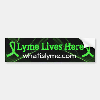 Lyme Lives Here Lyme Awareness Bumper Sticker