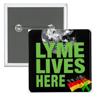 Lyme Lives in Germany Borreliosis Button