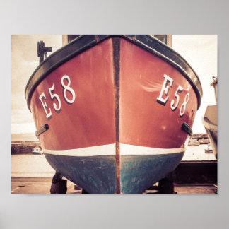 Lyme Regis fishing boat Poster
