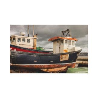 Lyme Regis fishing boats canvas print