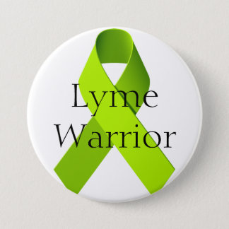 Lyme Warrior 3 Inch Round Button