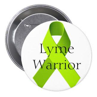 Lyme Warrior 3 Inch Round Button