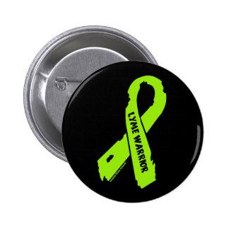 LYME WARRIOR/ torn ribbon 2 Inch Round Button